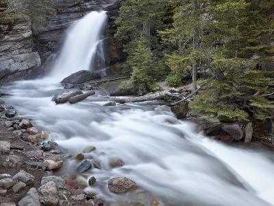 Baring Creek Falls, Glacier National Park, Montana, United States of America, North America