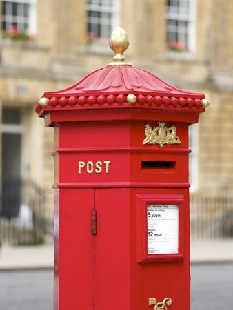 Vintage Letter Box, Great Pulteney Street, Bath, UNESCO World Heritage Site, Avon, England, UK