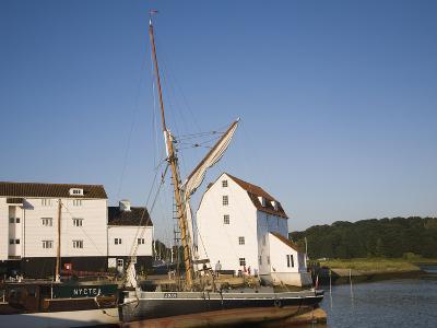 Tide Mill and Boat Moorings on the River Deben, Woodbridge, Suffolk, England, UK, Europe