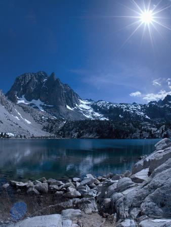 Sun Shining over the Mountains, Sierra Nevada, California, United States of America, North America
