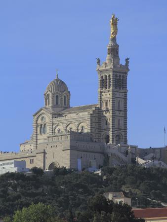 Notre Dame de La Garde Church, Marseilles, Bouches du Rhone, Provence, France, Europe
