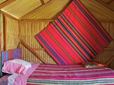 Bedroom, Uros Island, Islas Flotantes, Floating Islands, Lake Titicaca, Peru, South America