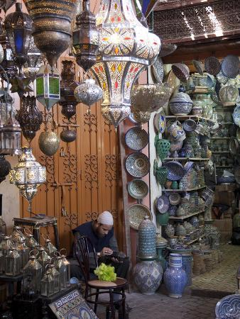 Souk, Marrakesh, Morocco, North Africa, Africa