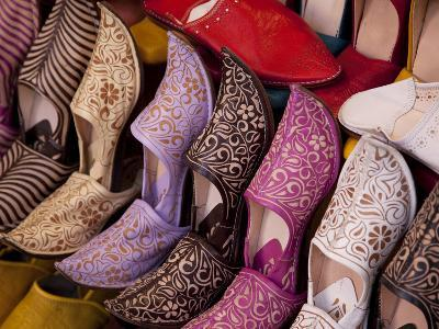 Colourful Slippers, Marrakesh, Morocco, North Africa, Africa