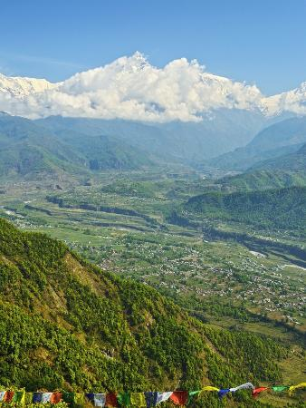 Annapurna Himal and Machapuchare Seen from Sarangkot, Gandaki Zone, Western Region, Nepal