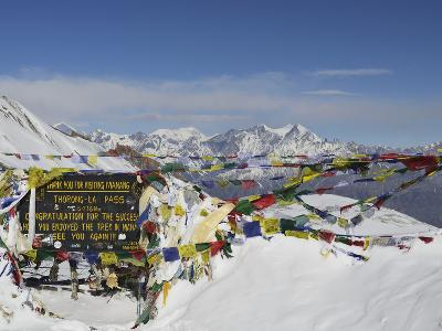 Thorong La (Thorung La), Pass at 5416m, Annapurna Conservation Area, Gandaki, Pashchimanchal, Nepal
