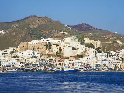 Hora (Chora) Main Town and Kastro, Naxos, Cyclades, Aegean, Greek Islands, Greece, Europe