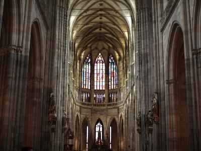 The Nave of St Vitus' S Cathedral, Prague, Czech Republic, Europe