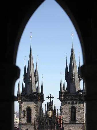 Tyn Church on Old Town Square, Prague, Czech Republic, Europe