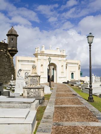 Santa Maria Magdalena Cemetery, Old City of San Juan, Puerto Rico Island, West Indies, USA