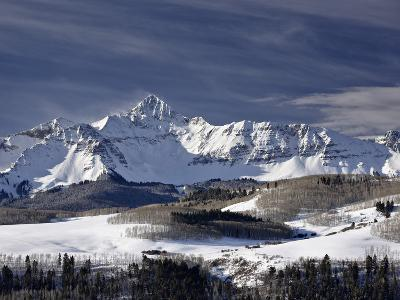 Mount Wilson in the Winter, Uncompahgre National Forest, Colorado, USA, North America