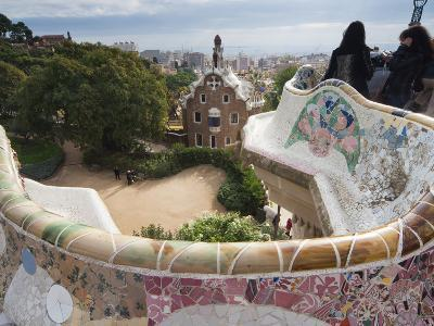Guell Park (Parc Guell), UNESCO World Heritage Site, Barcelona, Catalunya (Catalonia), Spain