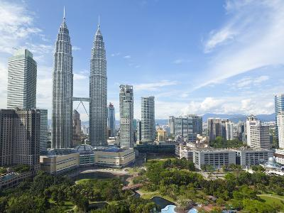 City Centre with KLCC Park Convention/Shopping Centre and Petronas Towers, Kuala Lumpur, Malaysia