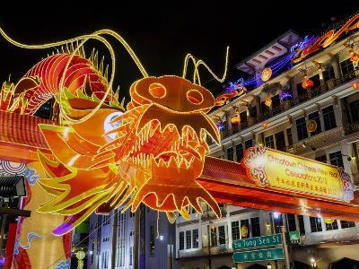 Chinese New Year Celebrations, New Bridge Road, Chinatown, Singapore, Southeast Asia, Asia