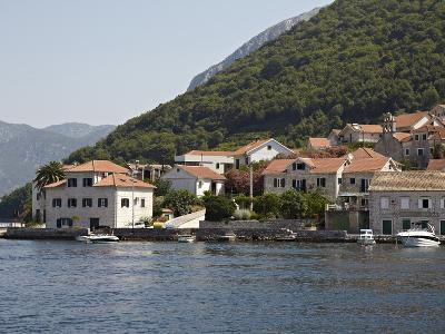 Houses on the Edge of the Bay of Kotor, Montenegro, Europe