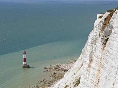 Beach Head Lighthouse, Near Eastbourne, East Sussex, England, United Kingdom, Europe