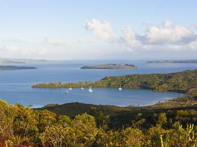 View over the South Coast of Grande Terre, New Caledonia, Melanesia, South Pacific, Pacific