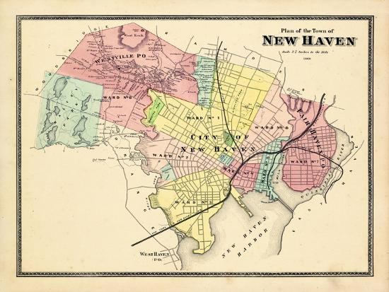 1868, New Haven, Connecticut, United States Giclee Print at ...