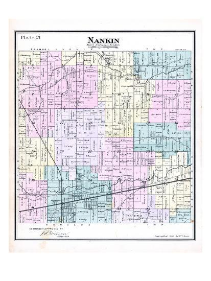 Rouge River Michigan Map.1883 Nankin Township Inksters Lower Rouge River Perrinville