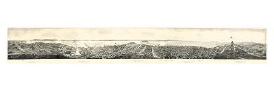 1862, San Francisco Panoramic View from Russian Hill, California, United States