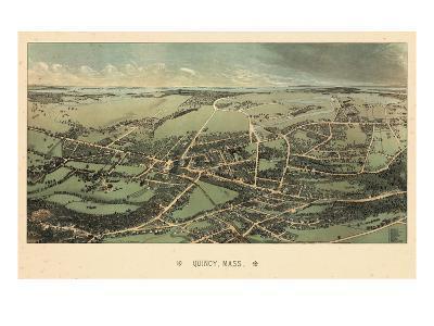 1877, Quincy Bird's Eye View, Massachusetts, United States