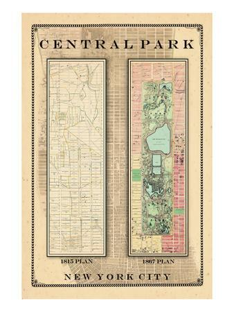 Central Park Development Composition 1815-1867, New York, United States, 1867