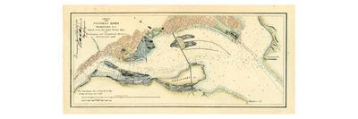 1882, Potomac River Chart Washington DC to Georgetown Harbor, District of Columbia, United Sta