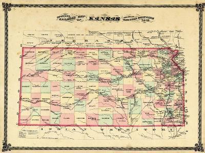 1879, Railroad Map, Kansas, StateUnited States
