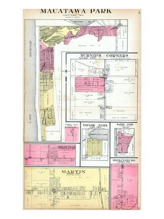 1913, Macatawa Park, Burnip's Corners, Martin, Shelbyville, Taylor Park, Michigan, United States