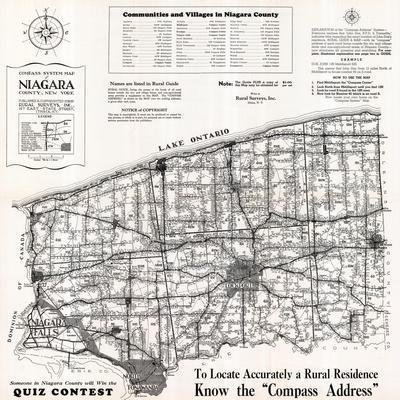 1939, Niagara County Map, New York, United States