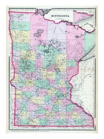 photo regarding Printable Maps of Minnesota known as 1888, Minnesota Nation Map, Minnesota, United Says
