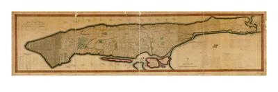 1807, New York City, Island of Manhattan 16x63, New York, United States