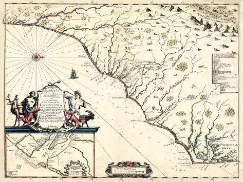 photograph regarding Printable Map of South Carolina called 1682, North Carolina and South Carolina Place Map, North Carolina, United Claims