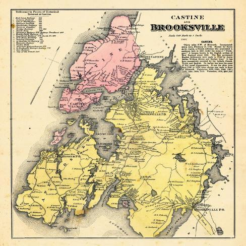 1881 Brooksville And Castine Maine United States Giclee Print At