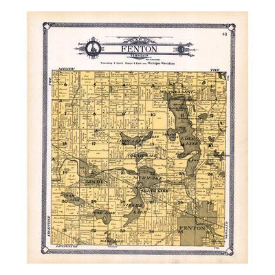 1907, Fenton Township, Linden, Crooked Lake, Mt. Pleasant, Byram, Pine, Silver Lake, Shiawassee Riv