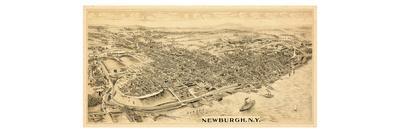 1900, Newburgh, Bird's Eye View, New York, United States