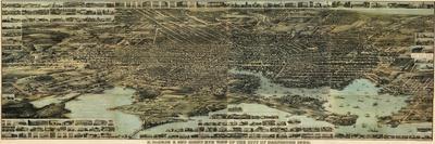 1869, Baltimore Bird's Eye View, Maryland, United States