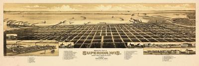 1883, Superior Bird's Eye View, Wisconsin, United States