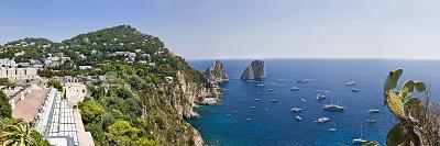 Boats in the Sea, Faraglioni, Capri, Naples, Campania, Italy