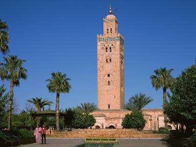 Minaret of a Mosque, Koutoubia Mosque, Marrakesh, Morocco