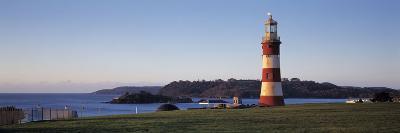 Lighthouse on the Coast, Smeaton's Lighthouse, Plymouth Hoe, Plymouth, Devon, England