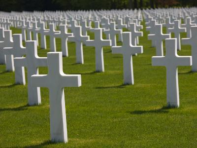 Us Military Cemetery Containing the Graves of More Than 5000 US War Dead from WW2, Hamm, Luxembo...