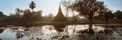 Ruins of a Temple at Dusk, Sukhothai Historical Park, Sukhothai, Thailand