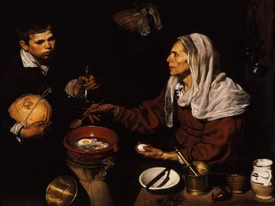 Old Woman Frying Eggs, 1618
