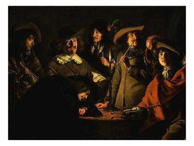 La Tabagie (Smoking Room), also Called Le Corps De Garde (Guardroom), 1643 (Detail)