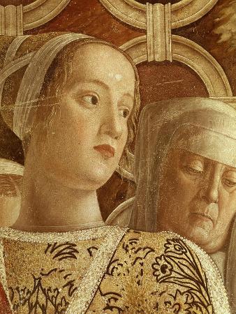 Young Girl in Family of Ludovico Iii Gonzaga, Duke of Mantua (D. 1478), Fresco, Camera Degli Sposi