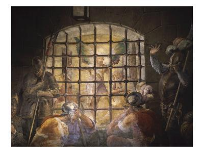 Saint Peter Freed from Prison, Fresco, Church of San Pietro in Vincoli, Rome, Italy