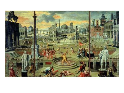 Les Massacres Du Triumvirat (Massacres of the Triumvirate), Painted in 1566