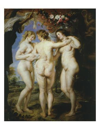 The Three Graces, Charities or Goddesses of Beauty, 1636-8, 221X181Cm