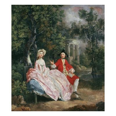 Conversation in a Park, Probably a Portrait of the Artist and His Wife, Margaret Burr, 1728-98